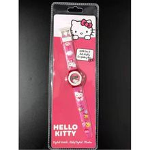 Montre digitale pour fille à imprimé du dessin animé Hello Kitty