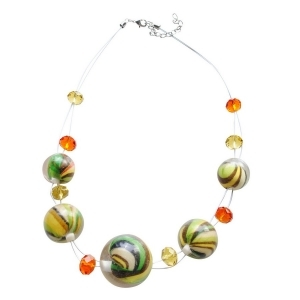 Collier en fil nylon invisible et perles fantaisies