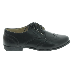 Derbies à lacets avec surpiqûres et perforations