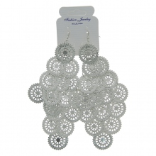 Boucles d'oreille design grappe