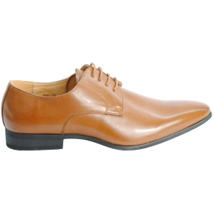 Chaussures homme à lacets style derby camel