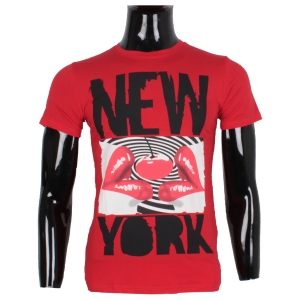 T-shirt homme à imprimé New York lips rouge
