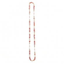 Collier sautoir long parsemé de perles fantaisies