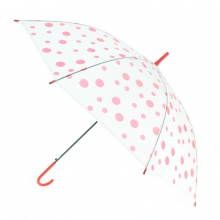 Parapluie transparent à petit motif couleur assortis
