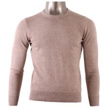 Pull col rond pour homme 100% coton beige