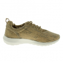 Baskets basses aspect filet fermeture à lacets beige