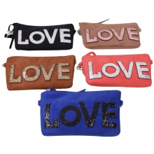 Pochette avec inscription LOVE  couleur assortis
