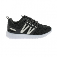 Baskets basses running avec lacets assortis gris
