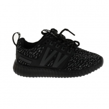 Baskets basses running avec lacets assortis noir