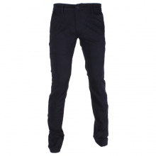 Pantalon chino coupe semi-slim coloris uni marine