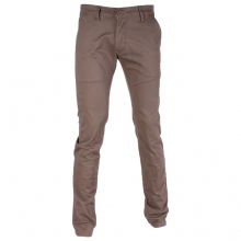 Pantalon chino coupe semi-slim coloris uni beige