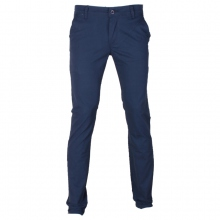 Pantalon chino coupe semi-slim coloris uni bleu