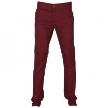Pantalon chino coupe semi-slim coloris uni bordeaux