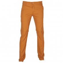 Pantalon chino coupe semi-slim coloris uni camel