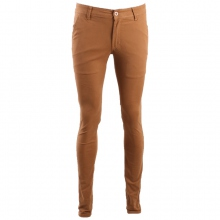 Pantalon chino coupe semi-slim coloris uni camel clair