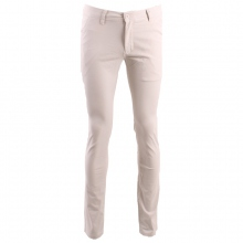 Pantalon chino coupe semi-slim coloris uni blanc cassé