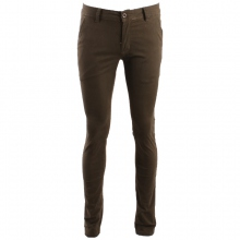 Pantalon chino coupe semi-slim coloris uni kaki
