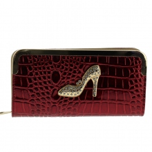 Assortiment portefeuille croco motif escarpin strass