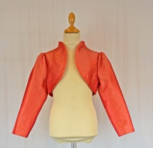 Boléro simple col montant orange pour fille