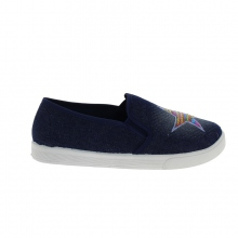 Slip-on dark blue orné séquins formant une étoile