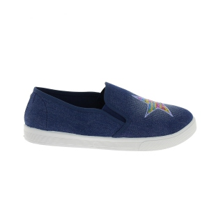 Slip-on light blue orné séquins formant une étoile