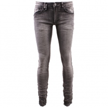 Jean homme gris stretch en coupe skinny taille 28 - 34