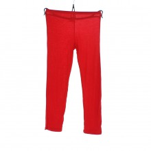 Leggings en viscose de couleur unie rouge