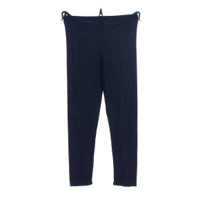 Leggings en viscose de couleur unie bleu marine