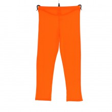 Leggings en viscose de couleur unie orange fluo