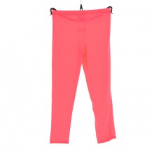 Leggings en viscose de couleur unie rose fluo