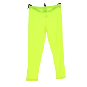 Leggings en viscose de couleur unie jaune fluo