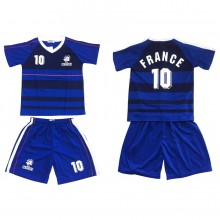 Ensemble maillot de football avec short FRANCE