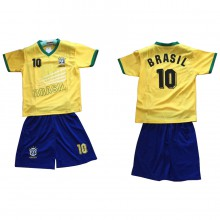 Ensemble maillot de football avec short BRESIL