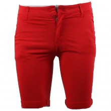 Bermuda chino avec poches rouge taille 28 - 38