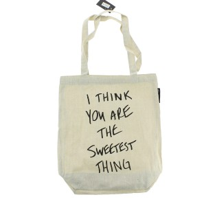 "Tote bag en coton ""I think you are the sweetest thing"""