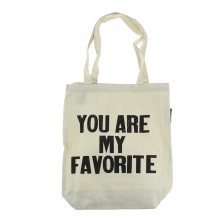 "Tote bag en coton ""You are my favorite"""