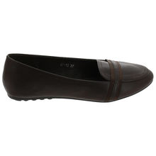 Ballerine de type slippers avec un talon plat marron