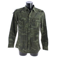 Chemise coton camouflage poches frontale avec rabats