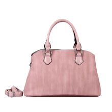 Sac deux compartiments se fermant par un zip rose