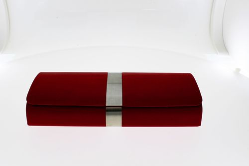 Etui Rigide Henri Beaud Royal rouge et argent