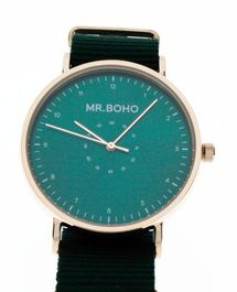 Montre Mr BOHO Casual metallic Green Doré 61 CP10, Diamètre de 40 mm,