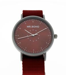 Montre Mr BOHO Casual metallic Red 62 IP11, Diamètre de 40 mm,