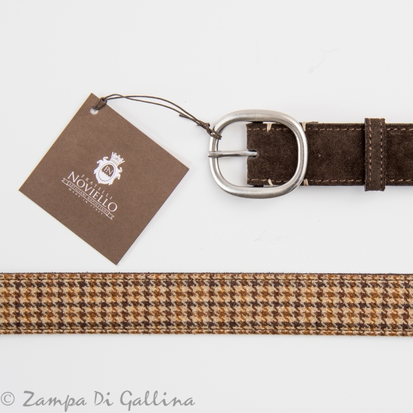 Fratelli Noviello Leather and wool Belt