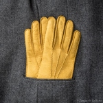Dakar Genuine peccary gloves cashmere lined