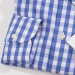 Blue Gingham Errico Formicola Cotton Shirt