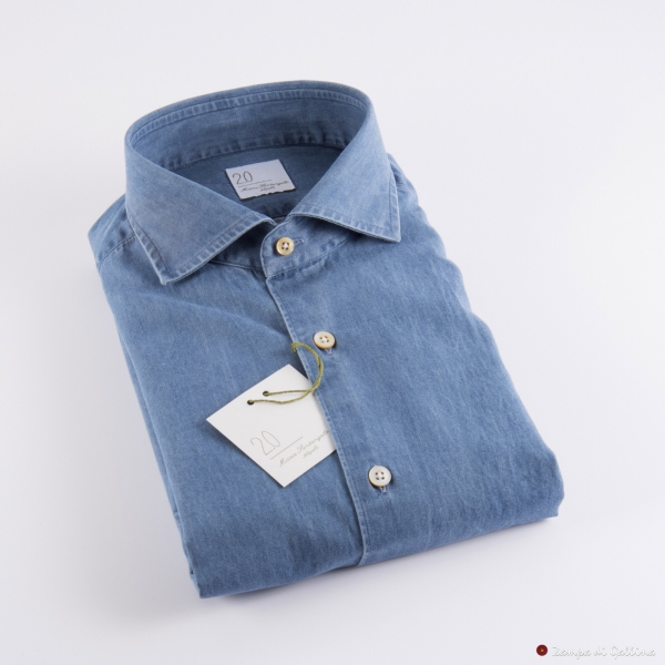 Blue Denim Slim Fit Maria Santangelo shirt