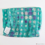 Green with Dots Calabrese 1924 Linen Scarf