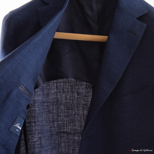 Navy Blue Unlined Filomarino Napoli Jacket