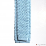 Light Blue Calabrese 1924 100%wool Knitted necktie