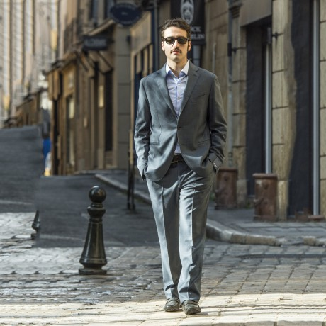 Blue Unlined Filomarino Napoli Suit